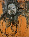 Живопись | Амедео Модильяни | Портрет Диего Риверы. 1916 год. Холст, масло