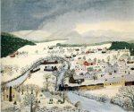 Живопись | Бабушка Мозес | Hoosick Falls in winter, 1944